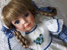 Alte Porzellan Sammler Puppe  Deko Nostalgie aus Nachlass ca. 41cm