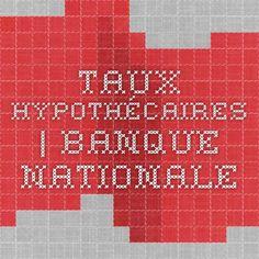 Taux hypothécaires   Banque Nationale