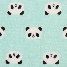 turquoise panda bear toweling fabric Cosmo Japan to make soft plush toys #baby #sewing