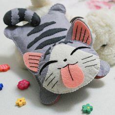 起司猫私房猫小起iphone手机包手机套 不织布DIY材料包