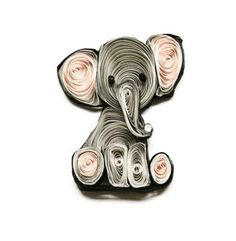 Little quilled elephant earring project
