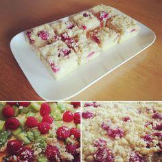 mein liebster Obstkuchen zur Zeit, ob mit Himbeern, Erdbeeren oder Marillen immer ein Genuss 😋. Ich würde mich frruen wenn ihr mir auch auf Instagram und Facebook flogt unter Lacky-baking. Bread, Facebook, Baking, Desserts, Instagram, Food, Fruit Cakes, Sprinkles, Raspberries
