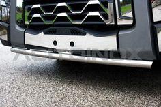 Barra porta targa di diametro 60mm in acciaio inox super mirror (aisi 304) per Renault Trucks T. È possible montare i led.