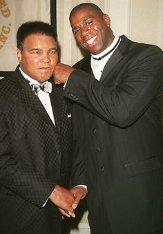Muhammad Ali & Magic Johnson (REX/Shuttertock)                                                                                                                                                      More