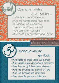 Teach children to organize. Super Dieta, Education Positive, Positive Life, French Language, Kids And Parenting, Teaching Kids, Montessori, Back To School, Positivity
