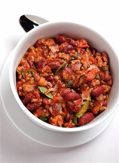 Spinach and Bacon Chili