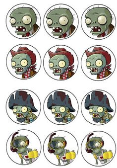 Zombies Cupcake Toppers Musings of an Average Mom: Plants vs. Zombies Cupcake ToppersMusings of an Average Mom: Plants vs. Zombie Birthday Cakes, Zombie Birthday Parties, Leo Birthday, Zombie Party, Plants Vs Zombies, Zombies Vs, Plantas Versus Zombies, P Vs Z, Zombie Cupcakes
