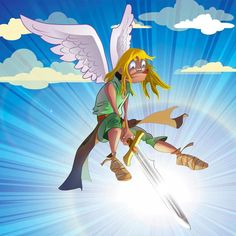 Like a Angel by Franmarvic on DeviantArt Chloe, Princess Zelda, Angel, Deviantart, Game, Fictional Characters, Illustration Children, Illustrator, Venison