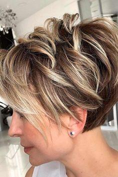 Short Choppy Hair, Short Layered Haircuts, Short Hairstyles For Thick Hair, Short Hair With Layers, Short Hair Styles, Hairstyles For Over 50, Hairstyles Haircuts, Pixie Haircut For Thick Hair, Longer Pixie Haircut