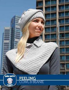 Knitting Patterns Galore - Cowl & Beanie