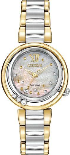 f90551ed23c Citizen Eco Drive Women s L Sunrise Diamond Two Tone Watch