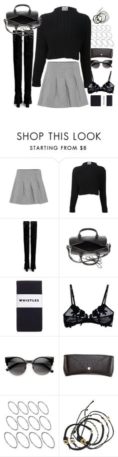 """""""Untitled#4540"""" by fashionnfacts ❤ liked on Polyvore featuring T By Alexander Wang, Stuart Weitzman, Yves Saint Laurent, Whistles, La Perla, ZeroUV, H&M, ASOS and Scosha"""