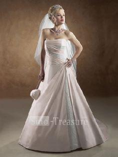 wedding dresses with pink beading
