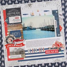 """Mix and Match collection from #CartaBellaPaper, like the """"Yacht Club"""" collection and #EchoParkPaper to create the perfect layout like this one by Anya Lunchenko!"""
