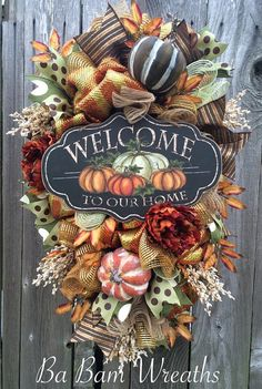 Fall Swag Autumn Swag Fall Wreath Autumn Wreath by BaBamWreaths