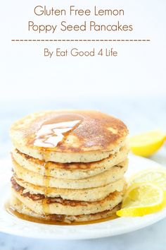 Gluten free lemon poppy seed pancakes from Eat Good 4 Life. These are ...