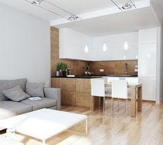 Aranżacje wnętrz - Kuchnia: Projekt strefy dziennej i łazienki w mieszkaniu w Chorzowie - Kuchnia, styl nowoczesny - RESE-arch Studio Projektowe. Przeglądaj, dodawaj i zapisuj najlepsze zdjęcia, pomysły i inspiracje designerskie. W bazie mamy już prawie milion fotografii!