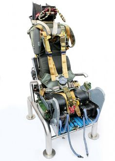 This Martin Baker Mk6 ejector seat is for sale, originally used in a Royal Navy Buccaneer, it has been fitted with a stainless steel frame, transforming it into the unique seat desk chair.
