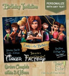 Tinkerbell's The Pirate Fairy Birthday Party by TinkerFactory
