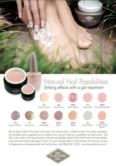 Bio Sculpture Gel Natural Nail collection. Www.pampetedtoperfection.co.uk