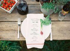 Hand crafted menu