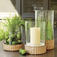 SL Sea Grass Hurricane - tropical - candles and candle holders - Ballard Designs Decorating Tips, Decorating Your Home, Diy Home Decor, Interior Decorating, Do It Yourself Furniture, Do It Yourself Home, Tropical Candles, Tropical Decor, Basic Design Principles