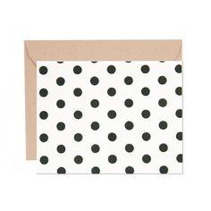 Small Dots Black on White Card Set | ShopPigment