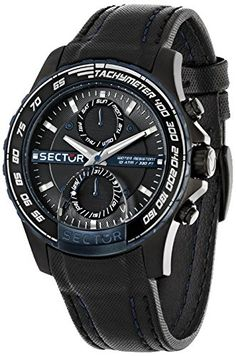 40f877e1050 Amazon.com  Sector Men s R3251577003 Analog Display Quartz Black Watch   Watches