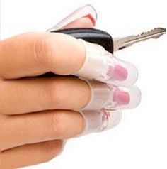 Clip on covers so you can go on with your day until your nails are totally dry. Great for darker colors that require a few extra coats and take longer to dry.