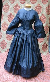 1850's dress redone in the 1860's style.