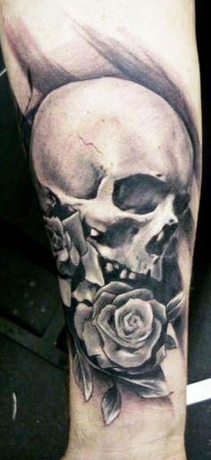 Tattoo Artist - Adam Kremer - skull tattoo