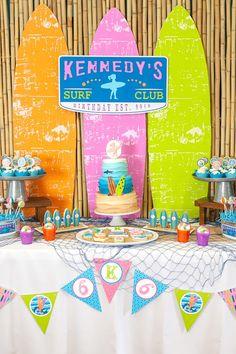 Partyscape at Girly Surfing Party from Kara's Party Ideas. See more at karaspartyideas.com!