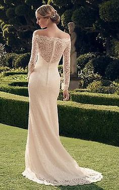 New Off-the-shoulder Lace Wedding Dresses Long Sleeve Bridal Gown Custom Made