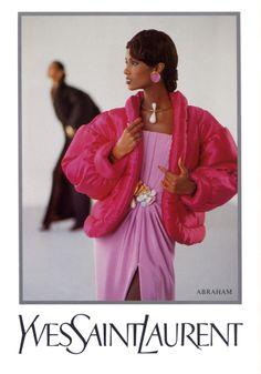 YSL, 1988  Model: Iman