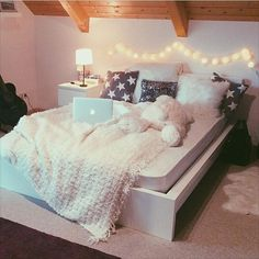 room, bed, and tumblr image