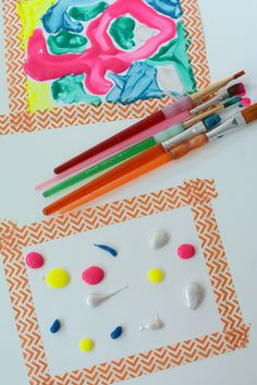 Great art project idea for slowing kids down and focusing on their art, plus the results are beautiful!