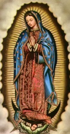 Catholic Artwork - Our Lady of Guadalupe Blessed Mother Mary, Blessed Virgin Mary, Religious Icons, Religious Art, Religious Pictures, Sainte Therese De Lisieux, Immaculée Conception, Mary Tattoo, Images Of Mary