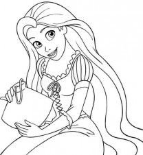 disney princess rapunzel coloring pages 14 disney princess rapunzel coloring - Rapunzel Coloring Pages To Print