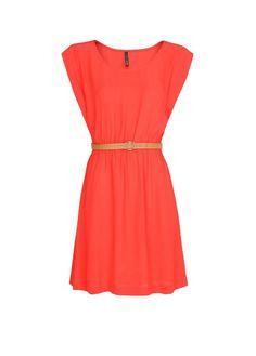 MANGO - Embossed belt dress