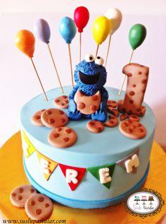 Kurabiye Canavarı Pastası #kurabiyecanavarı #cookiemonster #cookie monster #cookie #birthdaycake