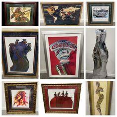 Charles Bibbs, Online Estate Sales, Radio Flyer, Danbury Mint, Normandy, Vintage Wood, Gallery Wall, Wall Art, Antiques
