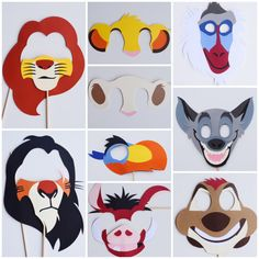 Lion King Photo Booth Props Lion Birthday by LetsGetDecorative