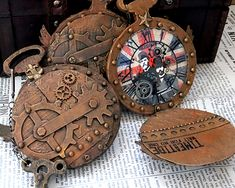 MIxed Media SteamPunk Watch Tim'sSizzix WatchDie