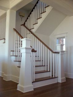 Custom newel post and stairs.