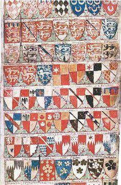 «Cooke's Ordinary» (CKO), v. 1340 -- Édition par S. Clemmensen en 2005. -- 646 écus peints. -- non consultable.