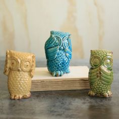 Find it at the Foundary - Set of 3 Hear No/Speak No/See No Evil Owls