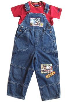 Thomas The Tank Engine Train Denim Overalls Outfit Red Shirt Toddler Boys 3T #ThomasTheTrain #Everyday