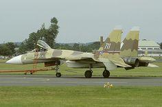 Sukhoi Su-37 at Farnborough 1996 airshow