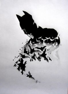 Cousins amazing pencil only batman drawing.