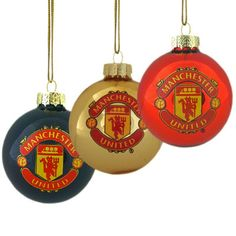 Man United Christmas Baubles   Manchester United Gifts    Man United Shop